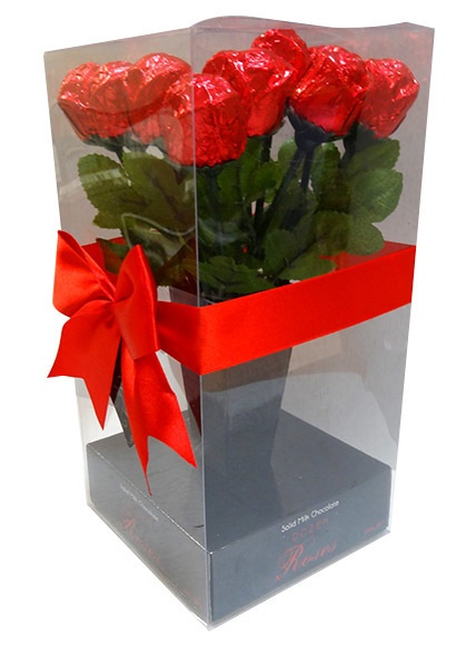 Hollow Milk Chocolate Dozen Roses 84g 1
