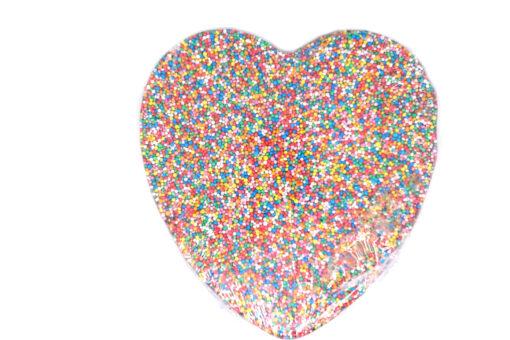 Milk Chocolate Heart Speckle 250g