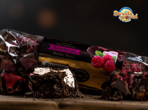 MILK CHOCOLATE ROCKY ROAD RASPBERRY 150g